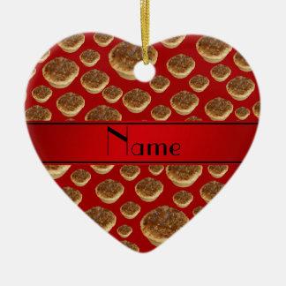 Tartas rojas conocidas personalizadas de la manteq adorno para reyes