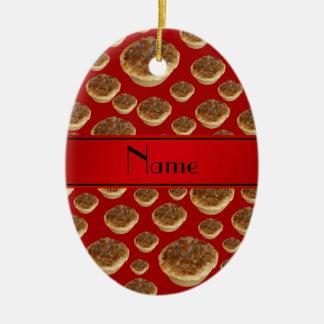 Tartas rojas conocidas personalizadas de la manteq ornamento de reyes magos