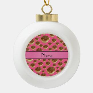 Tartas rosadas conocidas personalizadas de la mant adornos
