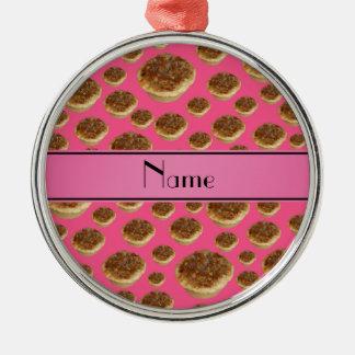 Tartas rosadas conocidas personalizadas de la mant adornos de navidad
