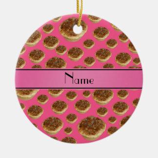 Tartas rosadas conocidas personalizadas de la mant ornamentos para reyes magos