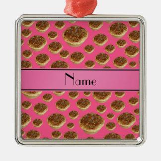 Tartas rosadas conocidas personalizadas de la mant adorno de reyes