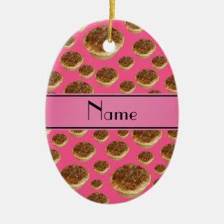 Tartas rosadas conocidas personalizadas de la mant ornamento para reyes magos