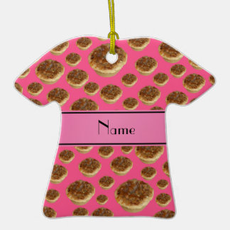 Tartas rosadas conocidas personalizadas de la mant ornamentos de reyes magos