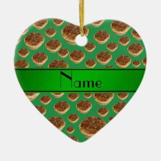 Tartas verdes conocidas personalizadas de la mante adorno de navidad