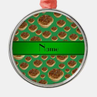 Tartas verdes conocidas personalizadas de la mante ornamentos para reyes magos