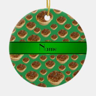 Tartas verdes conocidas personalizadas de la mante ornato