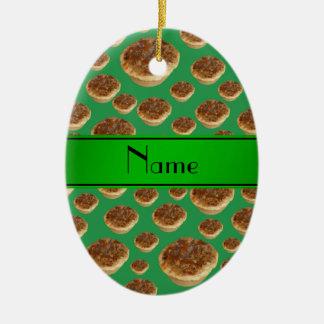Tartas verdes conocidas personalizadas de la mante ornamento de reyes magos