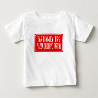 Tartini Square, Street Sign, Piran, Slovenia Baby T-Shirt