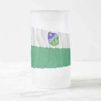 Tartu Waving Flag Frosted Glass Beer Mug