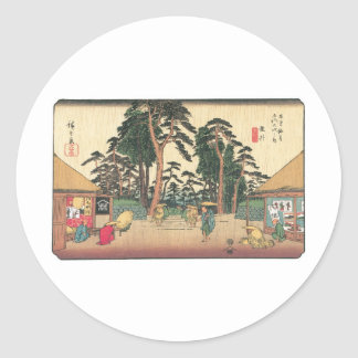Tarui, Japan c. 1800's Classic Round Sticker