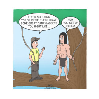 Tarzan Learns about Camp Gadgets Notepad