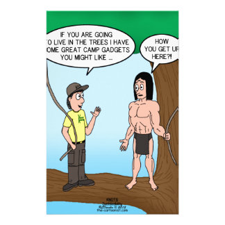 Tarzan Learns about Camp Gadgets Stationery