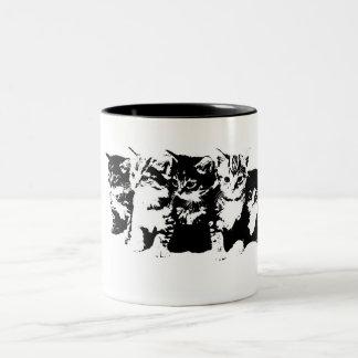 tasa con gatitos taza de dos tonos