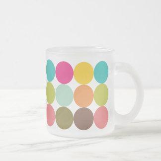 Tasa Helada de Círculos de Colores Taza De Cristal