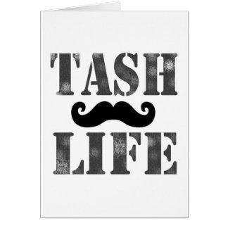'Tash Life' Moustache greeting card