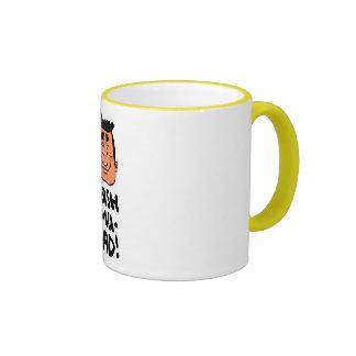 ¡Tash-MU-rad! taza amarilla del campanero