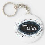 Tasha Nameplate Keychains