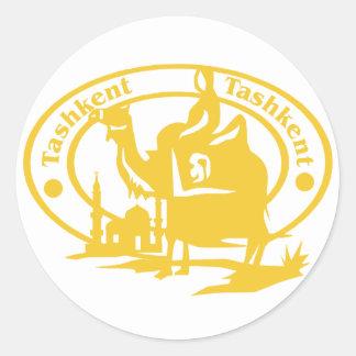 Tashkent Stamp Classic Round Sticker