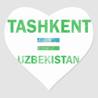 Tashkent Uzbekistan Designs Heart Sticker