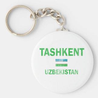 Tashkent Uzbekistan designs Basic Round Button Keychain