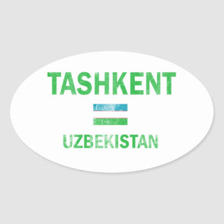 Tashkent Uzbekistan designs Oval Sticker