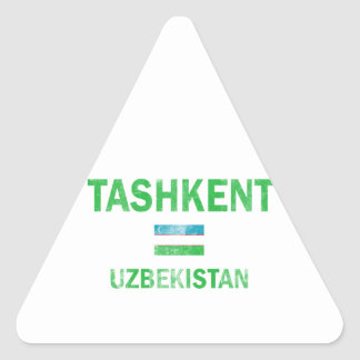 Tashkent Uzbekistan designs Triangle Sticker