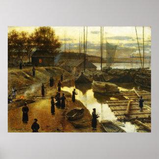 Tashlikh - Painting by Alexander Gierymski - 1884 Poster