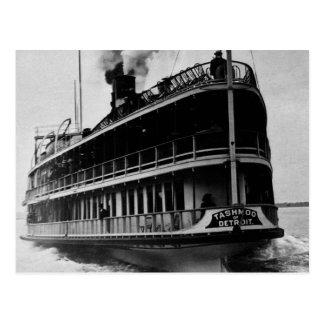 Tashmoo from Detroit - Vintage Stern Shot Postcard