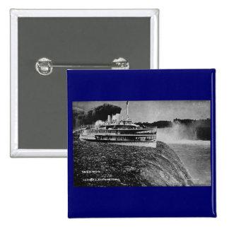 Tashmoo Over Niagra Falls Vintage Trick Photo Pinback Buttons