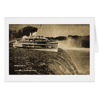 Tashmoo Over Niagra Falls Vintage Trick Photo Cards