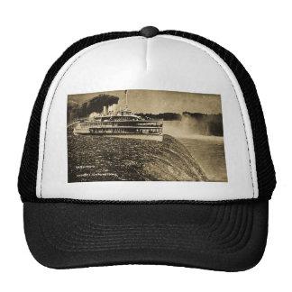 Tashmoo Over Niagra Falls Vintage Trick Photo Hats