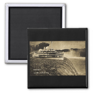 Tashmoo Over Niagra Falls Vintage Trick Photo 2 Inch Square Magnet