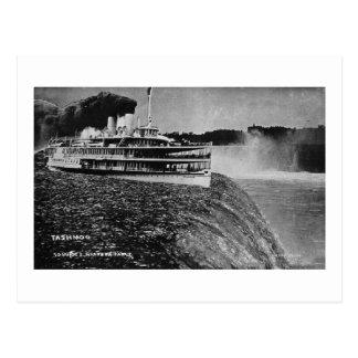 Tashmoo Over Niagra Falls Vintage Trick Photo Post Card