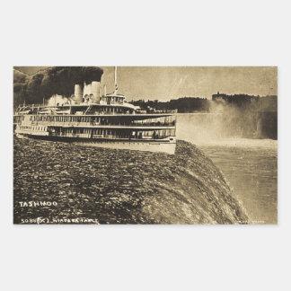 Tashmoo Over Niagra Falls Vintage Trick Photo Rectangle Sticker
