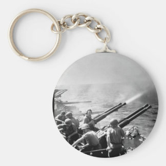 Task Force 58 raid on Japan.  40mm_War Image Keychain