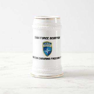 Task Force Scorpion, NTM-A Beer Stein 18 Oz Beer Stein