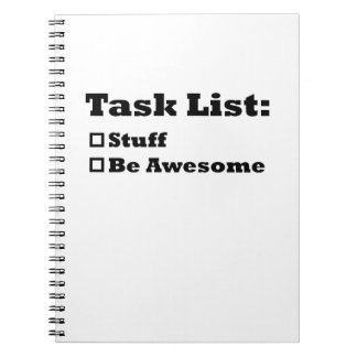 Task List: Be Awesome Notebook