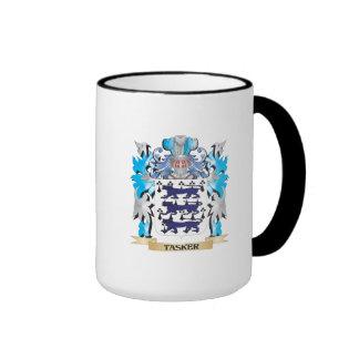 Tasker Coat of Arms - Family Crest Ringer Coffee Mug