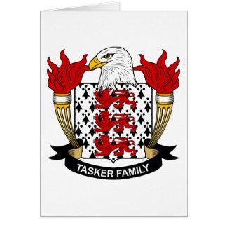 Tasker Family Crest Greeting Card