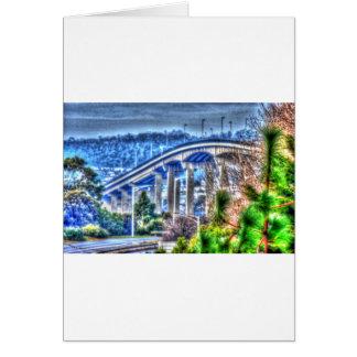 TASMAN BRIDGE HOBART TASMANIA AUSTRALIA CARD