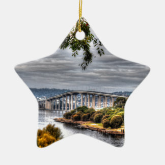 TASMAN BRIDGE HOBART TASMANIA AUSTRALIA CERAMIC ORNAMENT