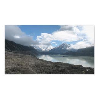 Tasman glacier lake, Southern Alps New Zealand Photo Print