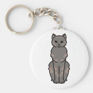 Tasman Manx Cat Cartoon Basic Round Button Keychain