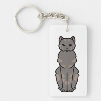 Tasman Manx Cat Cartoon Double-Sided Rectangular Acrylic Keychain