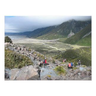 Tasman Valley view, Southern Alps, New Zealand Photo Print
