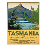 Tasmania Australia Vintage Travel Poster Post Card