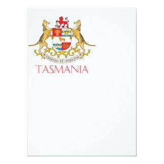 Tasmania coat of arms card