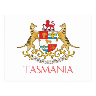 Tasmania coat of arms postcard