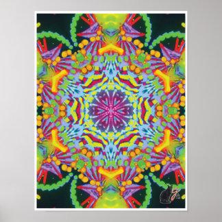 Tasmania Kinetic Collage Kaleidoscope Poster
